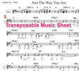Just The Way You Are Lead Sheet - Billy Joel (transposable)