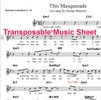 Thumbnail This Masquerade Lead Sheet (Transposable)