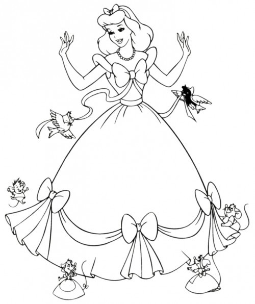 Product picture Cinderella Coloring Pages To Print